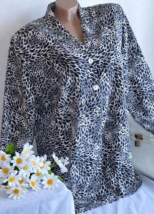 Брендовая удлиненная блуза на пуговицах большой размер
