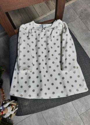 Велюровое платье,  платье для девочки
