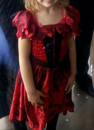 Карнавальное платье цветок ,роза на хэллоуин, новый год на 6-8...
