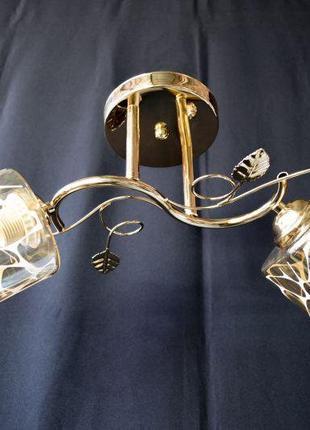 Люстра потолочная на 2 лампочки 2246-2а