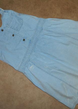 Сарафан детский голубой джинсовый на девочку 5-6 лет Debenhams.