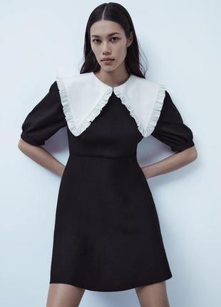 Трикотажное мини-платье zara