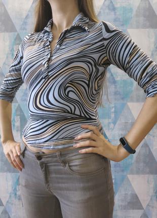 Блуза кофта на пуговицах кофточка