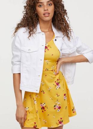 H&m летнее женское платье с цветами