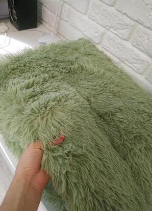 Красивый плед-травка зеленый (покрывало размер евро)