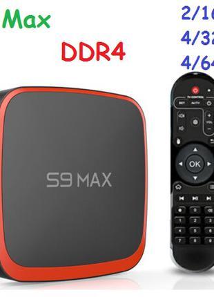 S9 Max 2/16 (4/32:4/64) DDR4 Android 9 андроид smart-tv(x96max+)