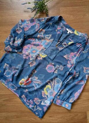 Шифоновая полупрозрачная блуза