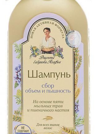 Шампунь Рецепты Бабушки Агафьи Сбор Объем и Пышность 350 мл
