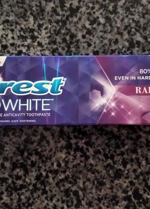 Отбеливающая зубная паста crest 3d white radiant mint. оригинал