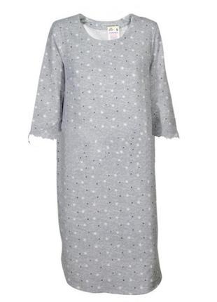 Женская фланелевая ночная рубашка размер44-60