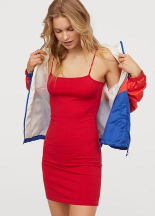 H&m женское летнее платье на тонких бретелях