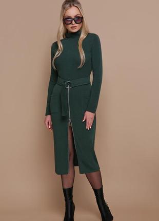 Шикарное платье-гольф со змейкой. бордо, зеленый, черный s, m,...