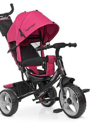 Детский трехколесный велосипед M 3113-6 Turbo Trike розовый
