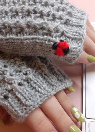 Митенки- перчатки без пальцев