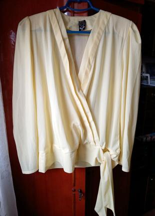 Шифоновая блуза на запах р.54