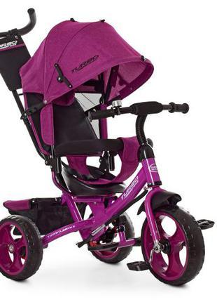 Детский трехколесный велосипед Turbo Trike M 3113-18L фуксия лен