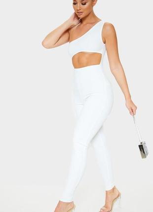 👑♥️final sale 2019 ♥️👑   белый комбинезон с брюками и вырезом ...