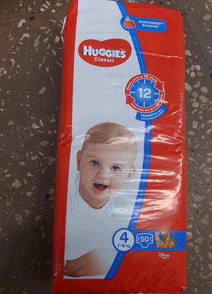 Подгузники HUGGIES Классик 4размер