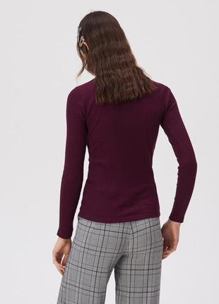 Новая облегающая бордовая кофта темно-бордовая блузка марсала ...