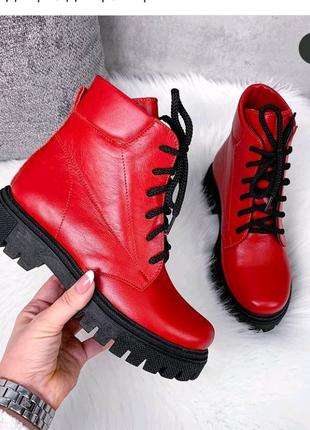 Ботинки женские деми. Новые. Кожа 38,41 размеры