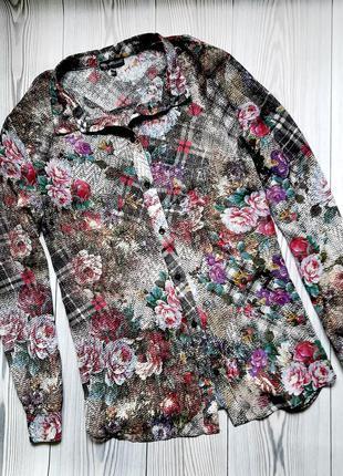 Шифоновая блузка рубашка kappahl по бирке 44-46