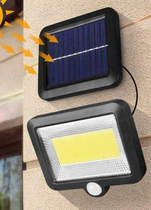 Прожектор с датчиком движения на солнечной батарее