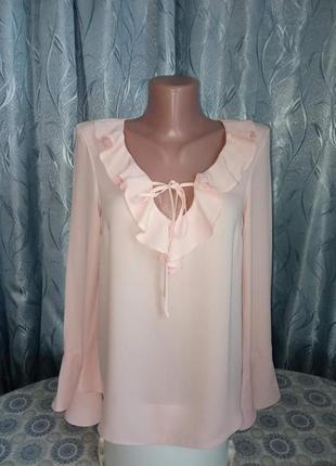 Шифоновая блуза пудрового цвета