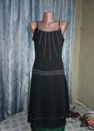 Шикарное шифоновое вечернее платье от amaranto