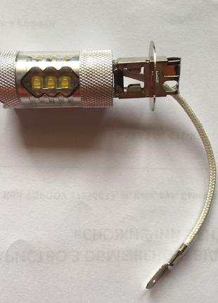 Авто-лампы H3 (светодиодные лампочки для авто, лучше за галоге...