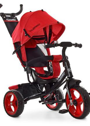 Детский трехколесный велосипед Turbo Trike M 3113-3L красный лен