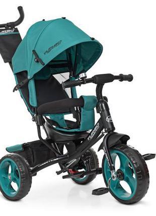 Детский трехколесный велосипед Turbo Trike M 3113-4-1 зелёный