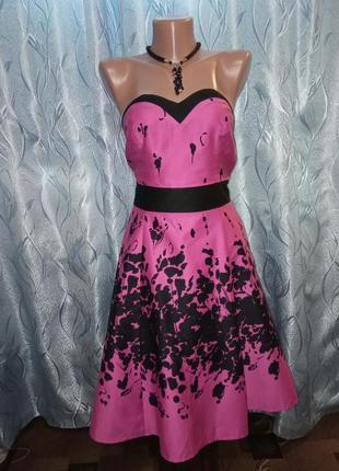 Коттоновое вечернее, элегантное платье