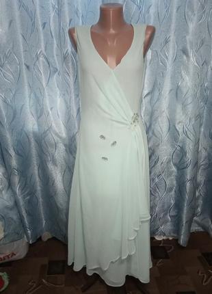 Шифоновое, вечернее платье на запах