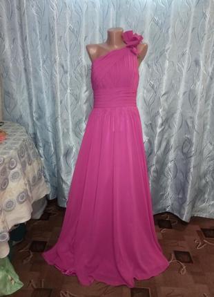Шифоновое вечернее платье  на одно плече от izidress