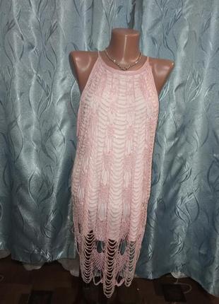 Ажурная блуза с бисером