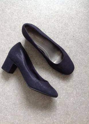 Туфли темно-синие