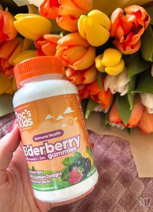 Жевательные таблетки Doc's Kids с бузиной , витамином С и цинком