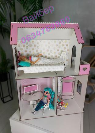 Домик для Барби, кукольный домик из дерева