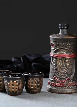 """Подарочная бутылка """"Доллары 0,7 л"""" - прекрасный подарок"""