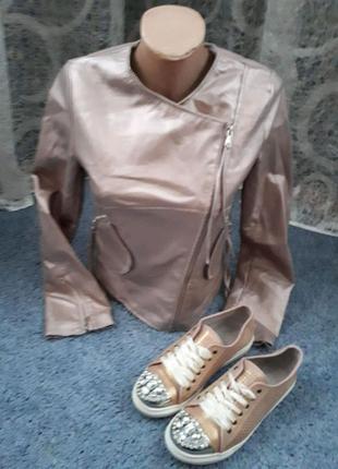 Куртка серебро 46 р