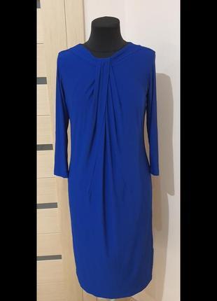 Платье, синего цвета, размер м (46/48)