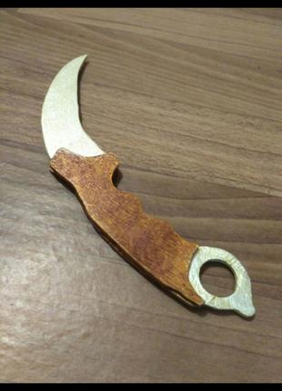 Деревянный нож керамбит