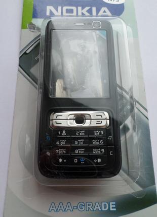 Корпус Nokia N73 черный+клавиатура Супер качество