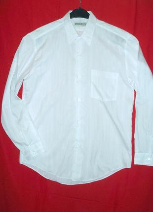 "Рубашка ""river valley"" р.l (16) белая мужская классика"
