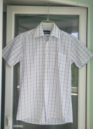 Шведка р.s/m (37 14.5) cedar wood state, мужская летняя рубашка