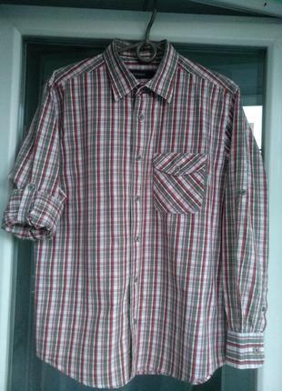 Рубашка-шведка ken baker р.164 мальчику 13-14лет, школьная, х/б