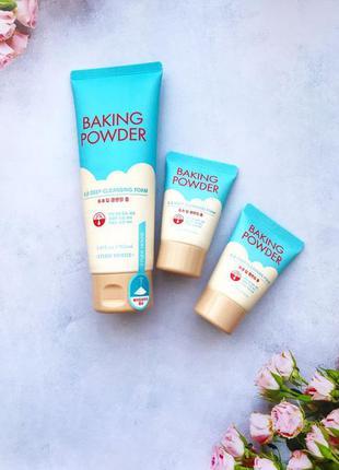 Пенка для удаления макияжа и BB-кремов Etude House Baking Powder