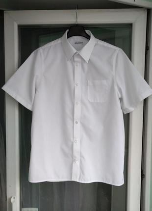 "Шведка ""m&s"" non-iron р.164 подростку 13-14л, белая рубашка, м..."
