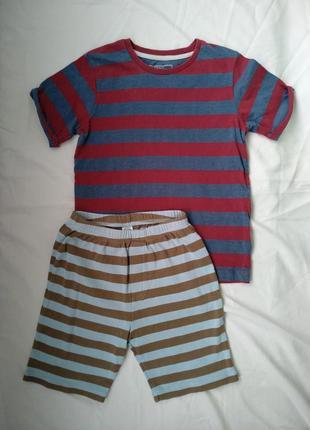 Комплект летний: футболка и шорты р.116-122 мальчику 6-7лет