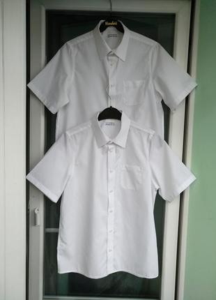 "Шведка ""m&s"" non-iron р.164 на 13-14л белая школьная рубашка, ..."